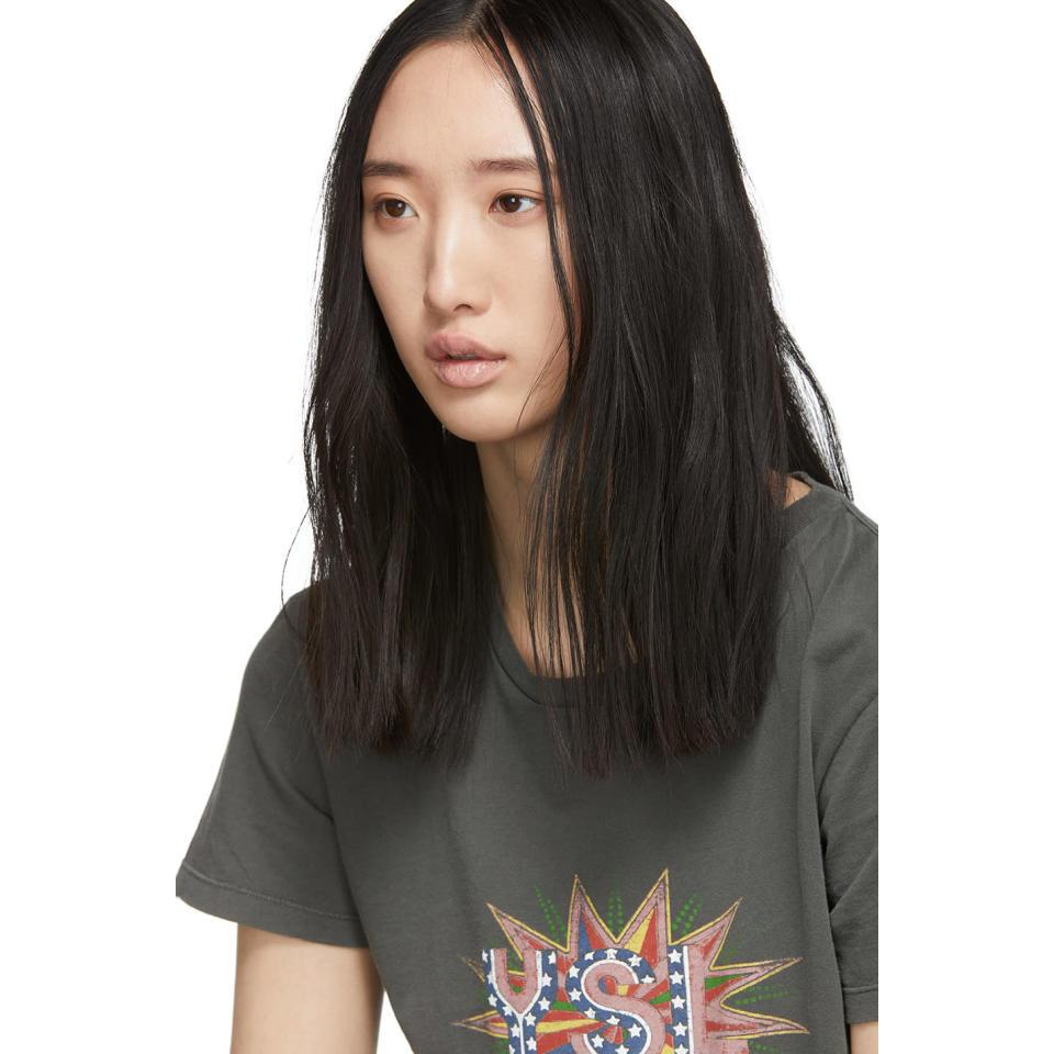 8c53a2a7e7 Saint Laurent Gray Grey Ysl Disco T-shirt