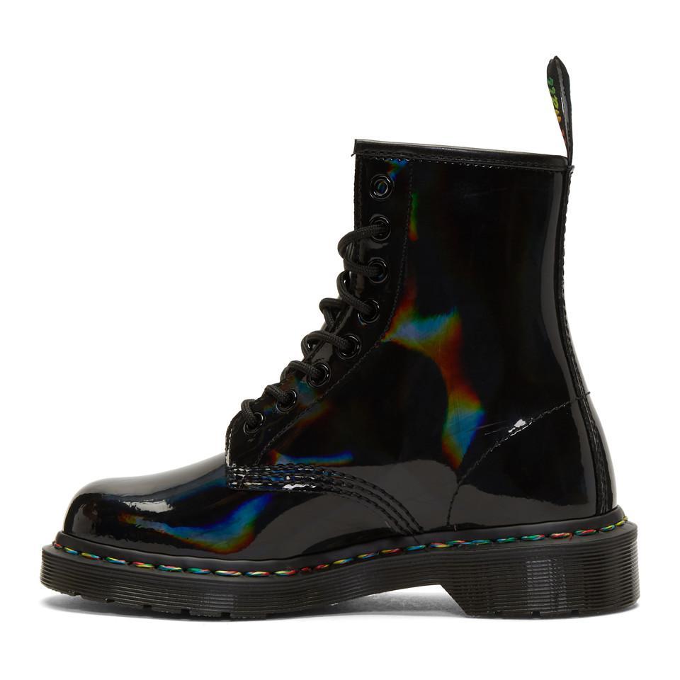 doc martens black rainbow