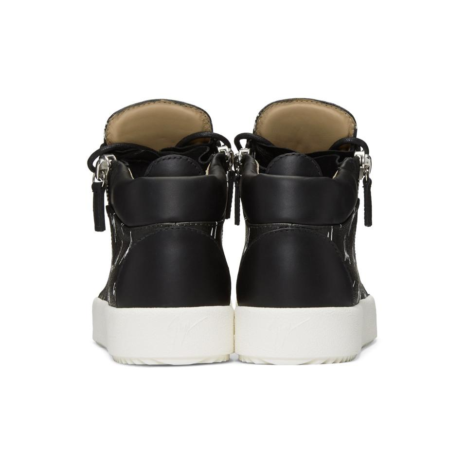 Giuseppe Zanotti Leather Black May London High-top Sneakers