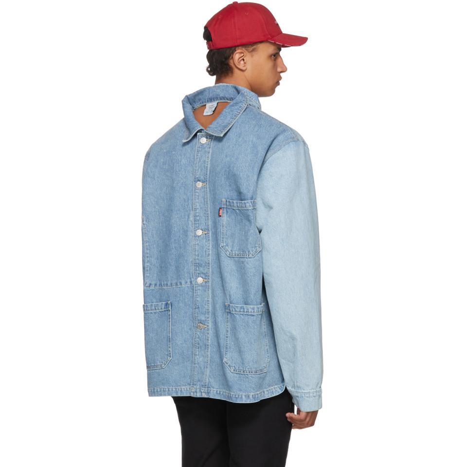 Chemise Jeans Levis pour lyst - chemise a dos ouvert en denim bleue edition levis vetements