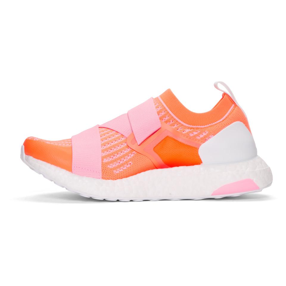 adidas By Stella McCartney Rubber Pink And Orange Ultraboost X Sneakers