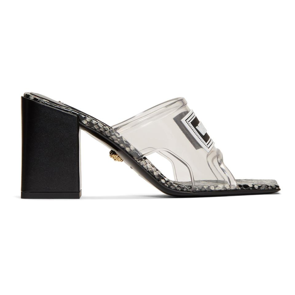 versace clear heels Shop Clothing