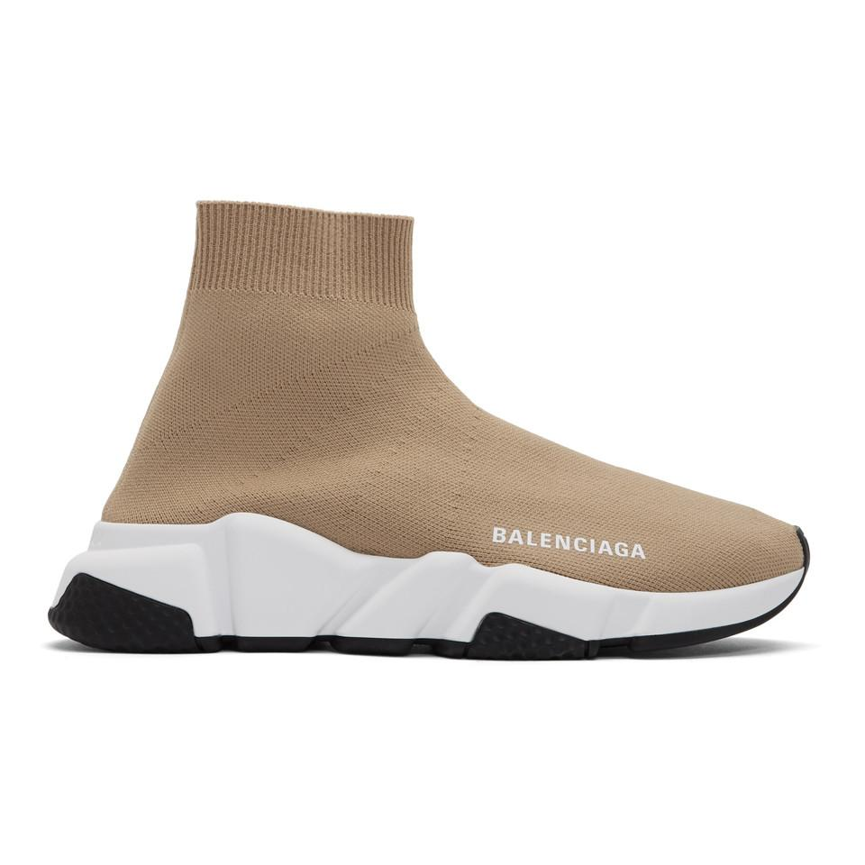 reasonably priced huge selection of many fashionable Beige Speed Trainer Sneakers