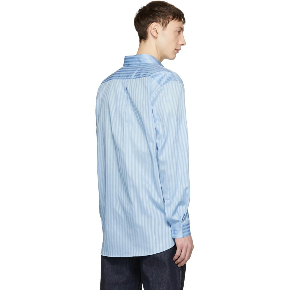 Martine Rose Cotton Blue Wrap Shirt for Men