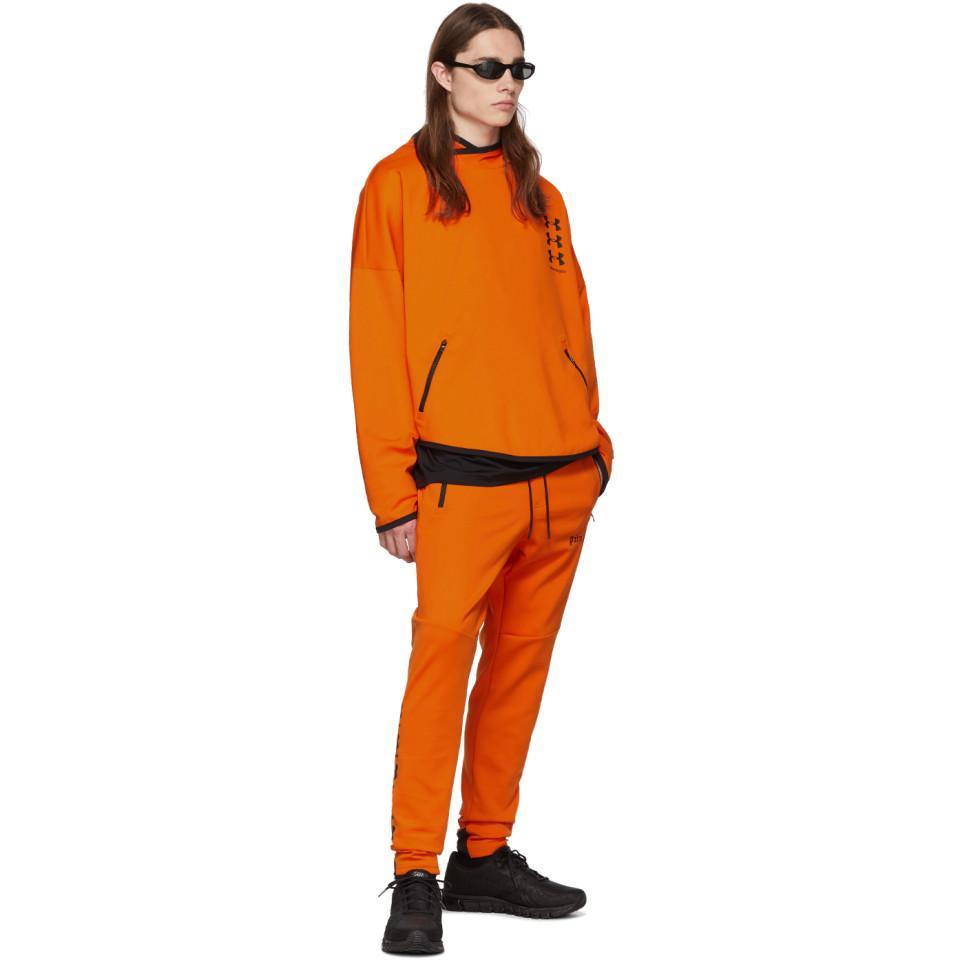 clima tengo hambre Tarjeta postal  Palm Angels Synthetic X Under Armour Loose Hooded Sweatshirt in Orange for  Men - Lyst