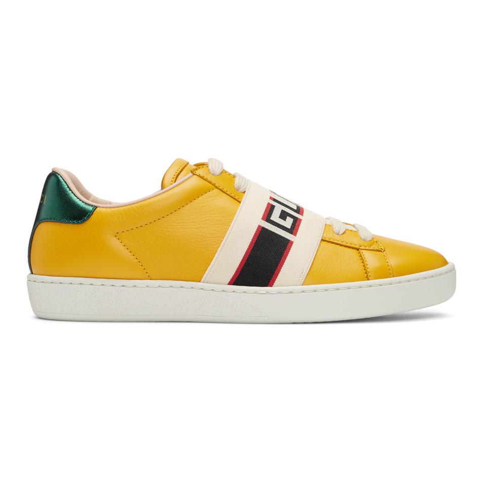 cheap for sale official store low price Yellow New Ace Elastic Band Sneakers