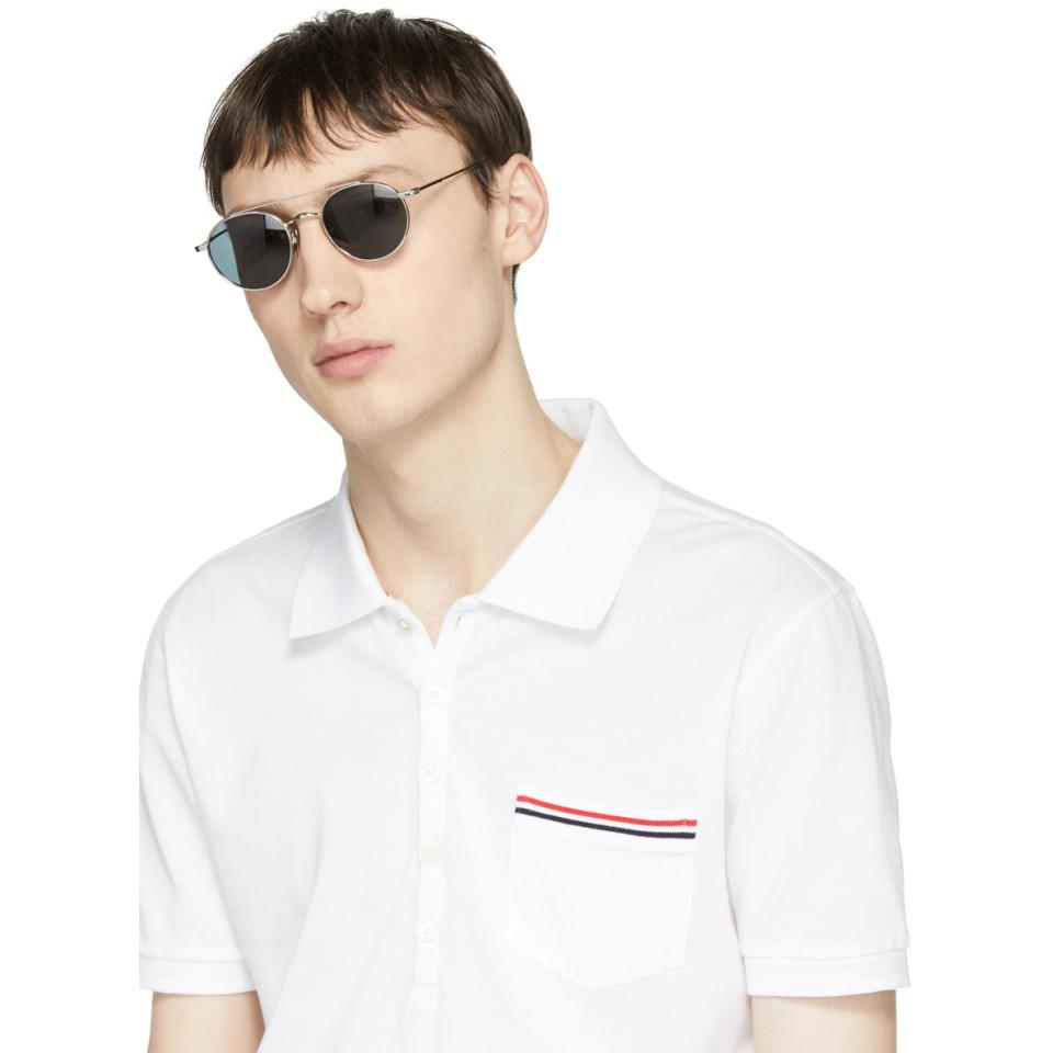 Thom Browne Silver Tb-101 Sunglasses in Grey (Grey) for Men