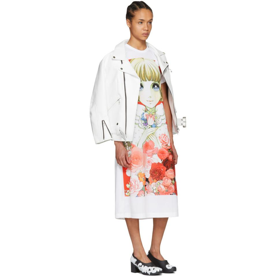 Buy Cheap Pictures Manchester Sale Online White Anime Girl T-Shirt Dress Comme Des Gar?ons Hurry Up Buy Cheap For Cheap Factory Outlet Cheap Online UDMa3oWd