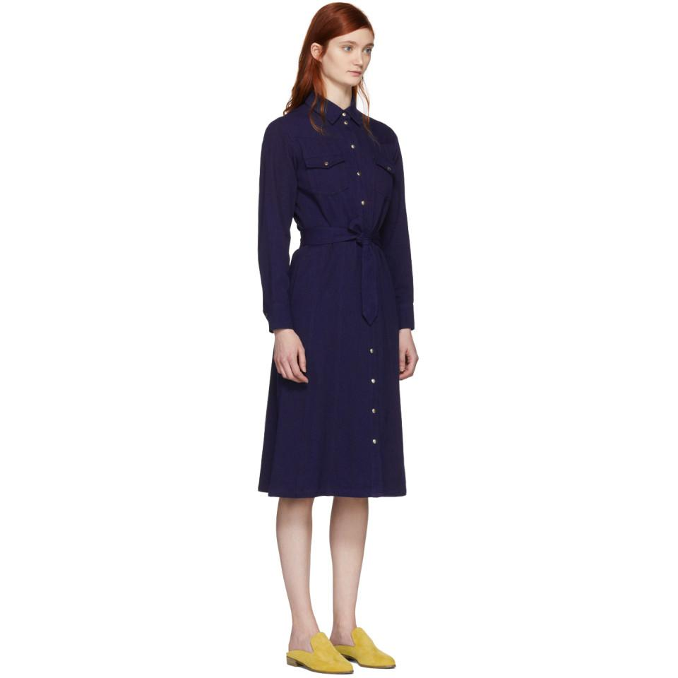 Indigo Annie Button Up Dress A.P.C. 9EO8u