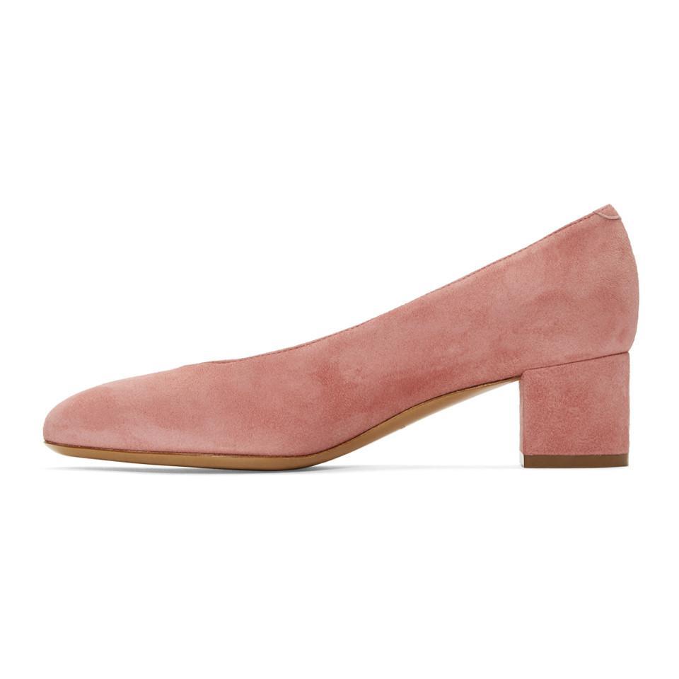 Clearance Big Discount Cheap Sale Manchester Pink Suede Ballerina Heels Mansur Gavriel Order Authentic Cheapest Online KXuCjHo