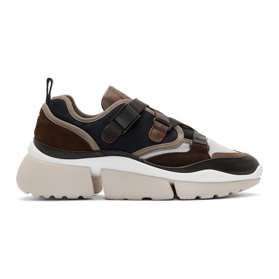 Chloé Sonnie Low-top Sneakers in Navy