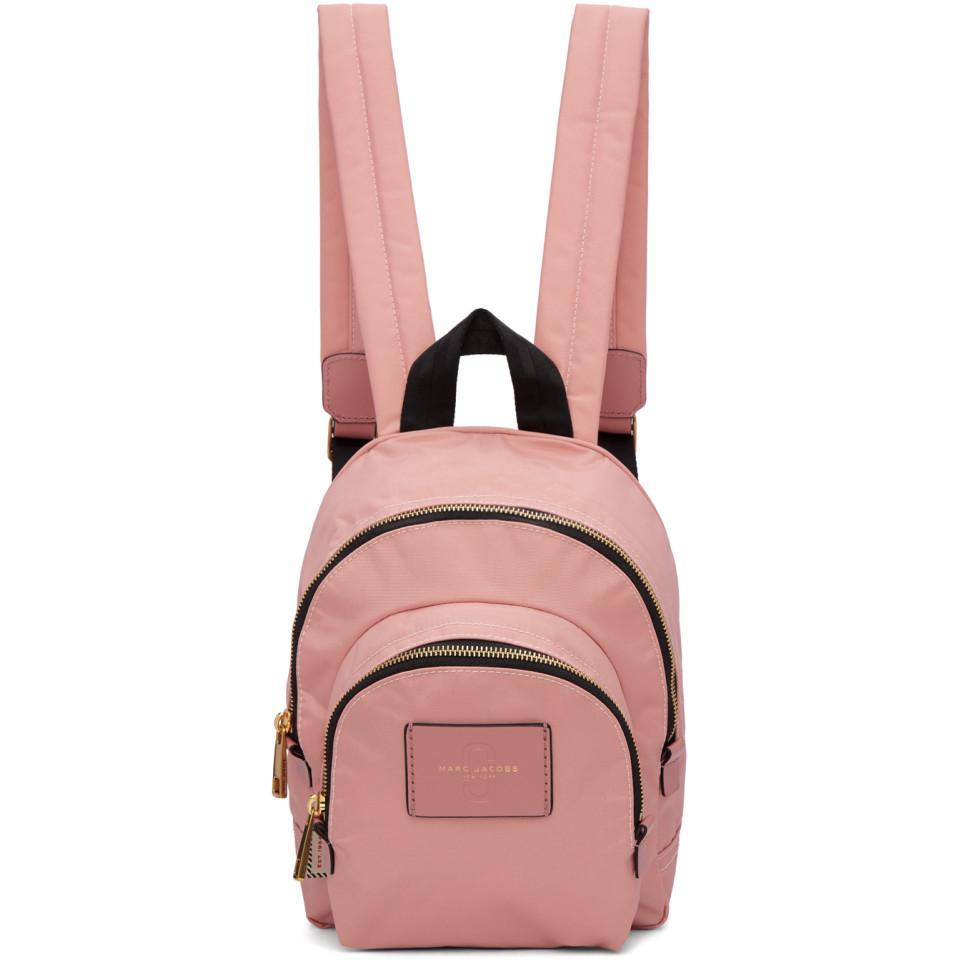 Marc Jacobs Sac à Dos Mini Double Pack en Nylon Rose x9bCLQ