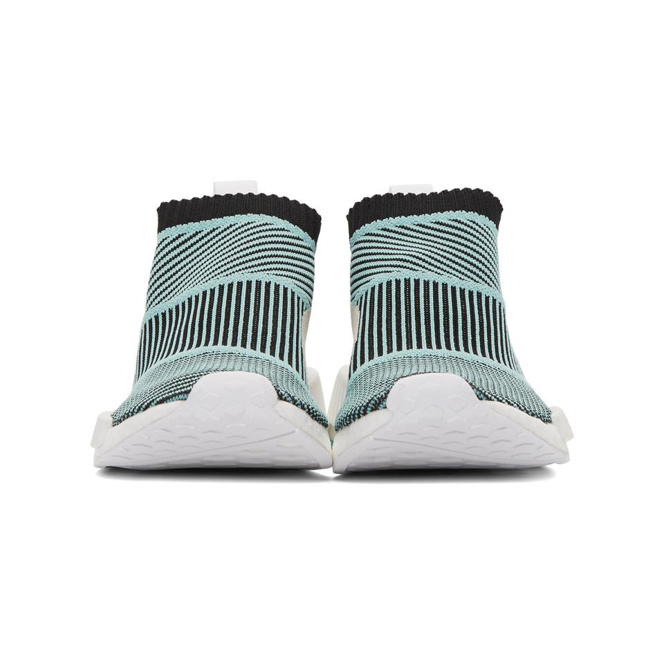 c4fcfca77 Lyst - adidas Originals Black And Blue Nmd Cs1 Parley Pk Sneakers in ...