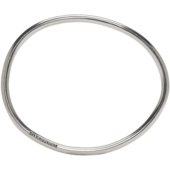 Ann Demeulemeester Silver Simple Bangle in Metallic