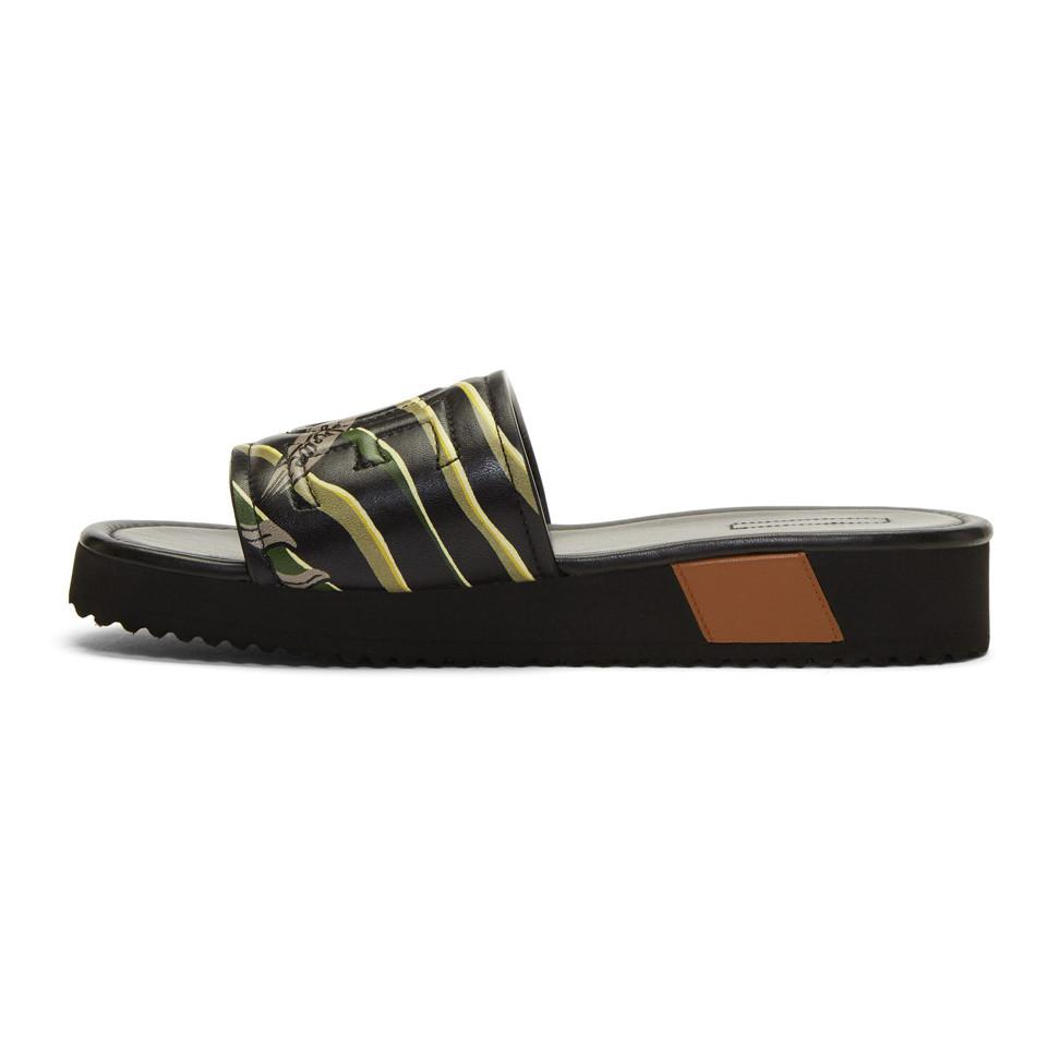 Loewe Paula Ibiza's Edition Leather Logo Slides Get To Buy For Sale qzI4eK0Z3d