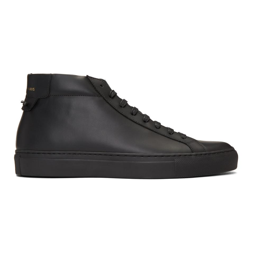 Givenchy Black Urban Knots Mid-Top Sneakers WJE9gy