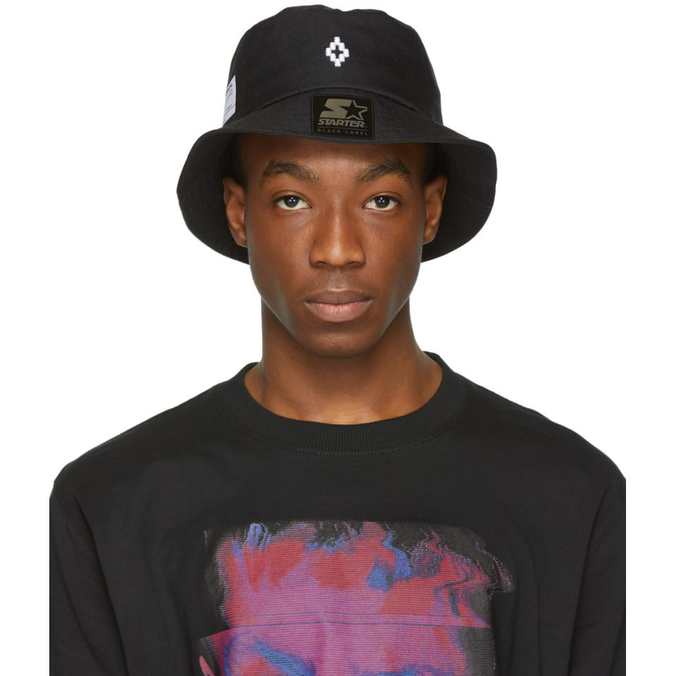 720a6d5802f Lyst - Marcelo Burlon Black Starter Edition Label Bucket Hat in ...