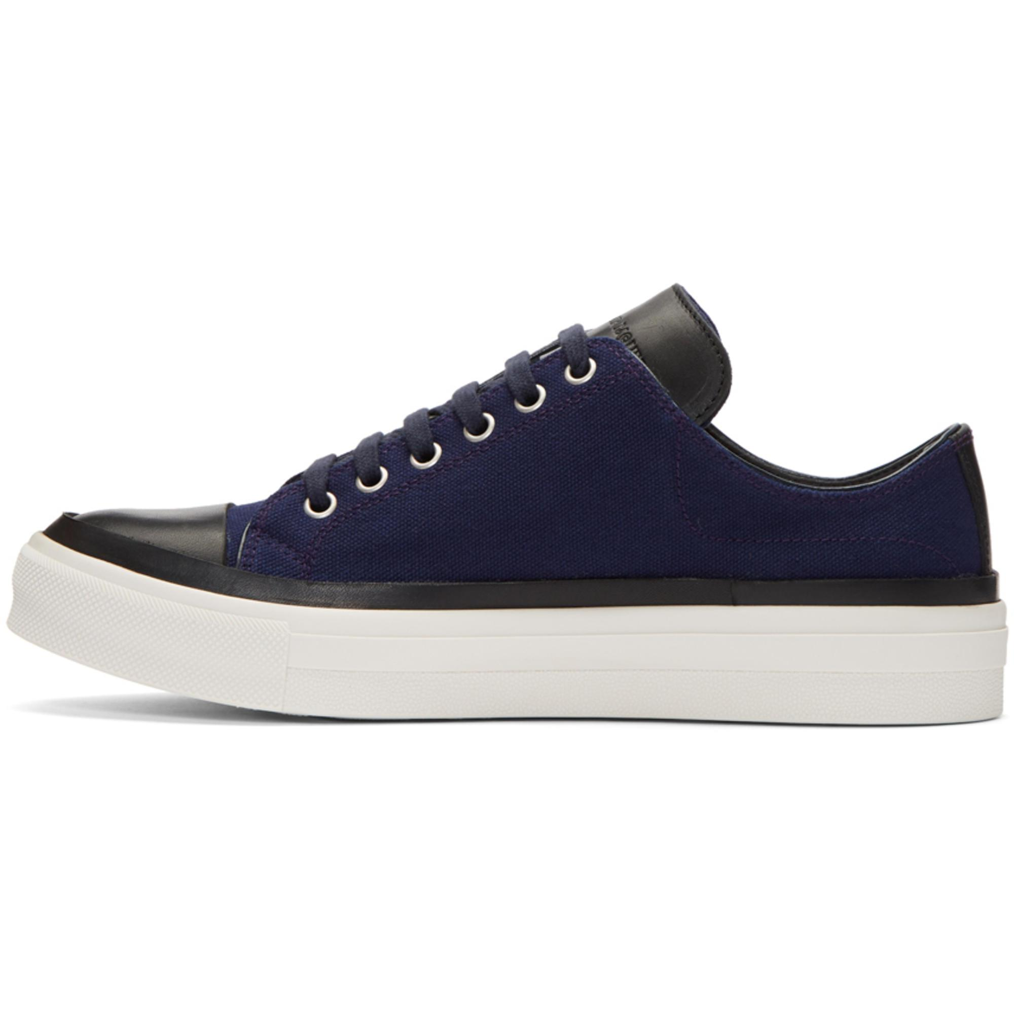 Alexander McQueen Navy Skeleton Patch Sneakers W32HNP
