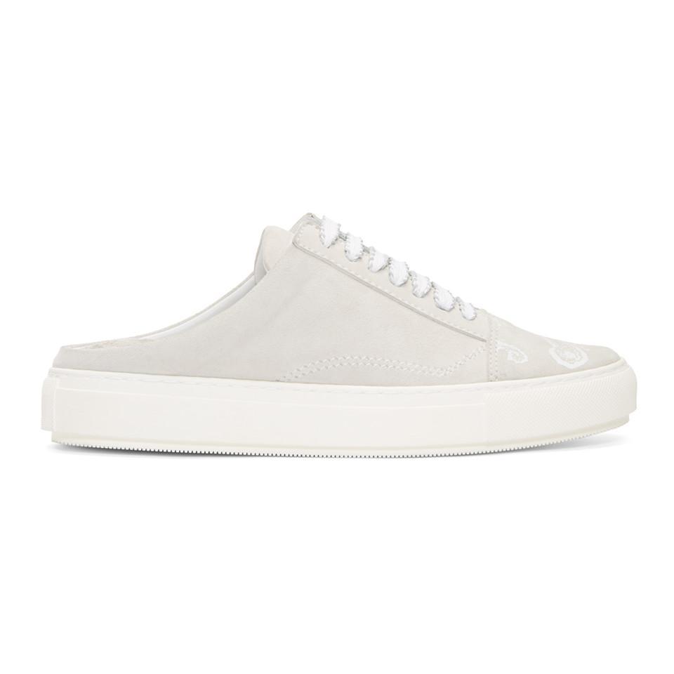 Wooyoungmi Grey & Black Paisley Sneakers FqD3UwNlFJ