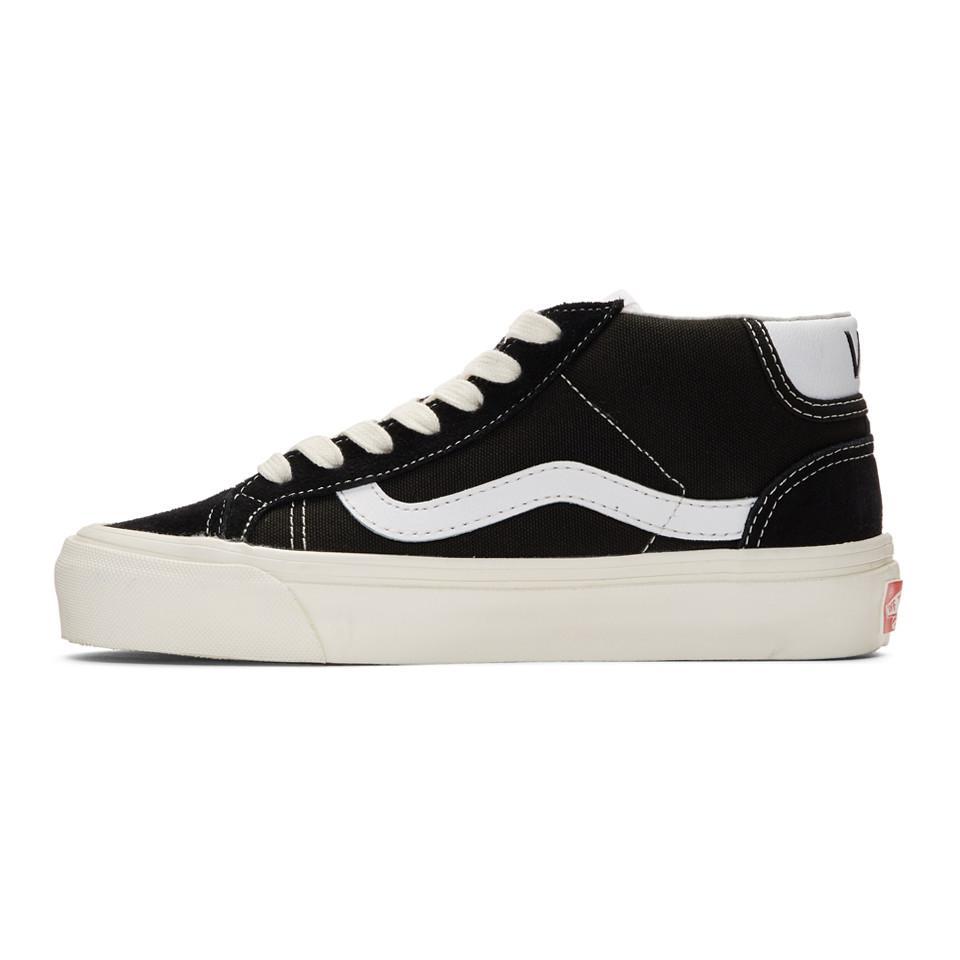 Vans Suede Vault Og Mid Skool 37 Sneakers in Black - Lyst