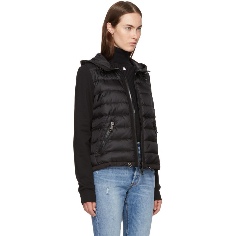 78f1743a8 Moncler Black Down & Jersey Jacket