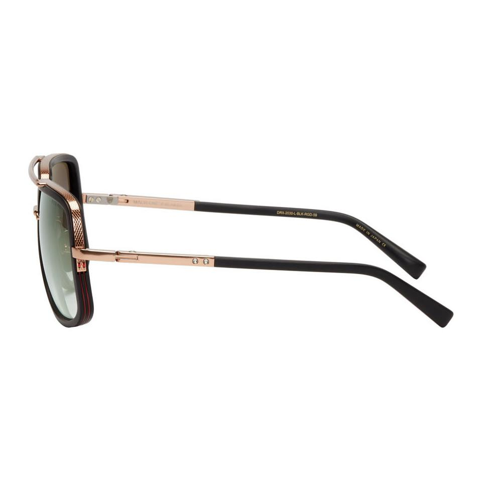 eb3aca348766 Dita - Black And Gold Mach-one Sunglasses for Men - Lyst. View fullscreen