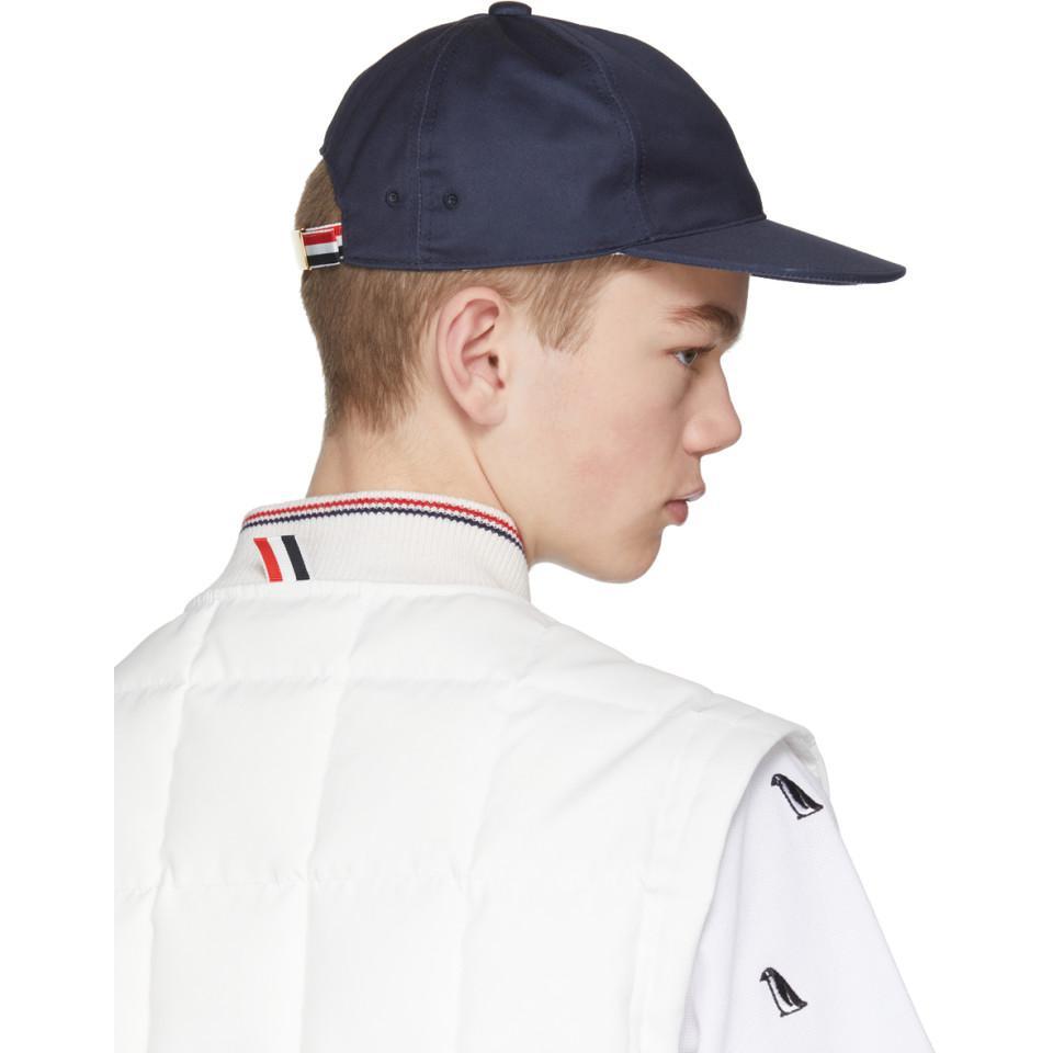 12b1b4f8761 Lyst - Thom Browne Navy Baseball Cap in Blue for Men