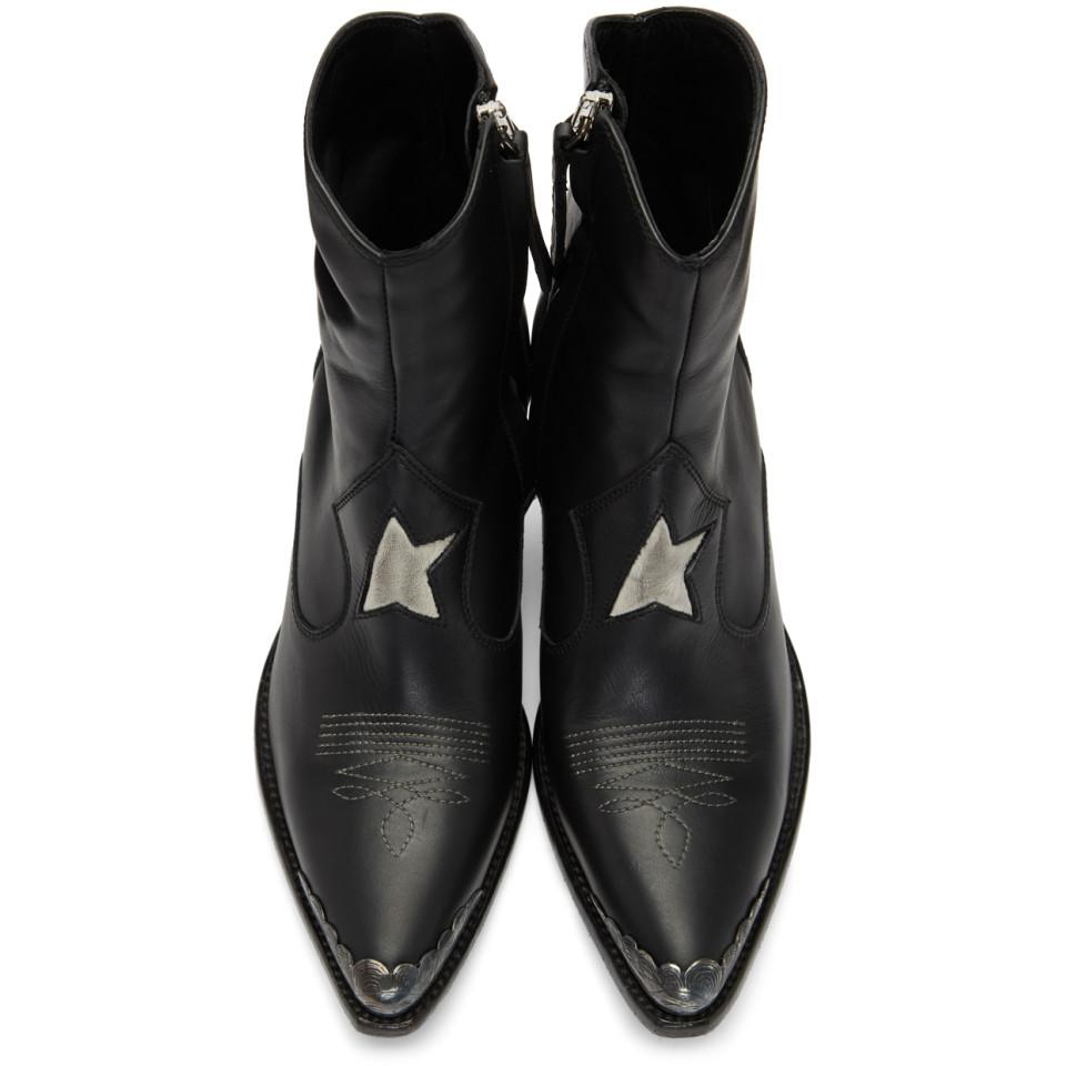 Bottes noires Nora Star Cuir Golden Goose Deluxe Brand en coloris Noir