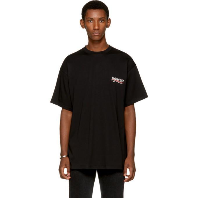 Lyst Balenciaga Black 39 Kering 39 T Shirt In Black For Men