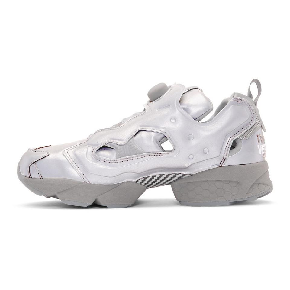 4c5cde8d3b9 Lyst - Vetements Grey Reebok Edition Reflective Instapump Fury ...