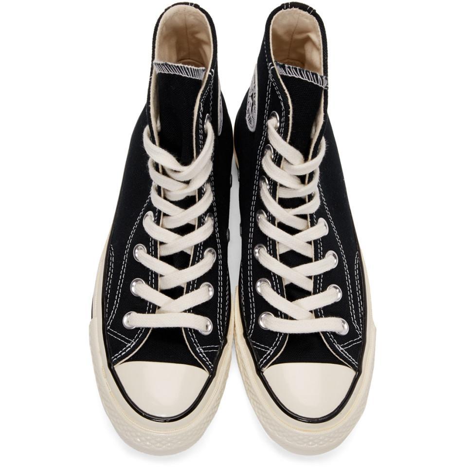 Baskets noires Chuck 70 High Toile Converse en coloris Noir 3VIb
