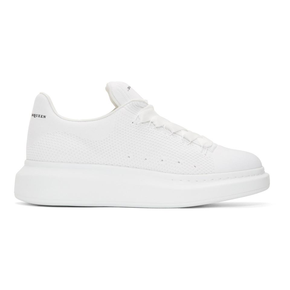 alexander mcqueen knitted trainers off