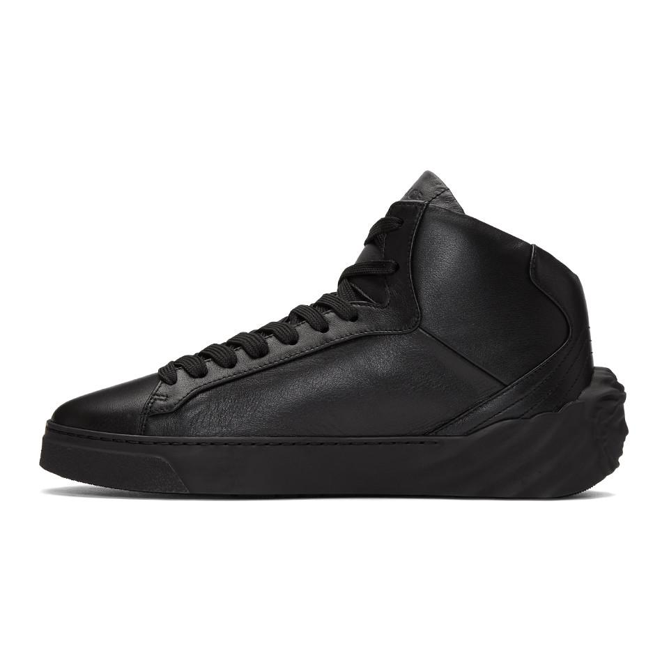 For Sale Free Shipping Cheap Sale Very Cheap Black Back Medusa Head High-Top Sneakers Versace i1SQoboqF