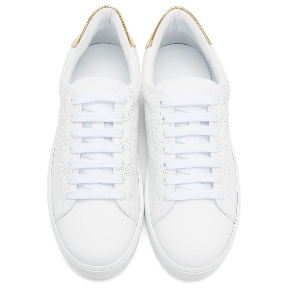 Burberry Leather White Westford Check Sneakers