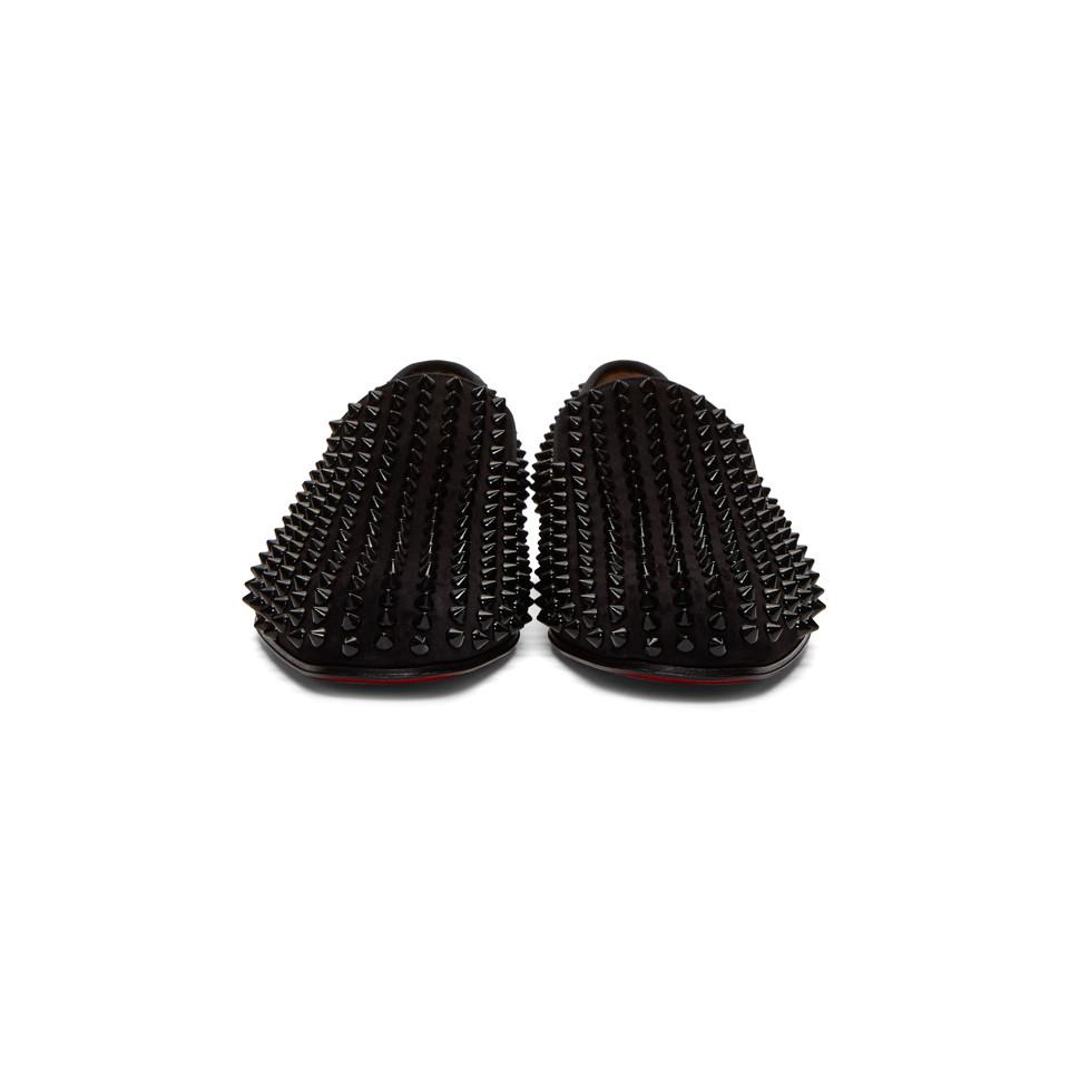 a72f2f245ff6 Christian Louboutin - Black Dandelion Spikes Loafers for Men - Lyst. View  fullscreen