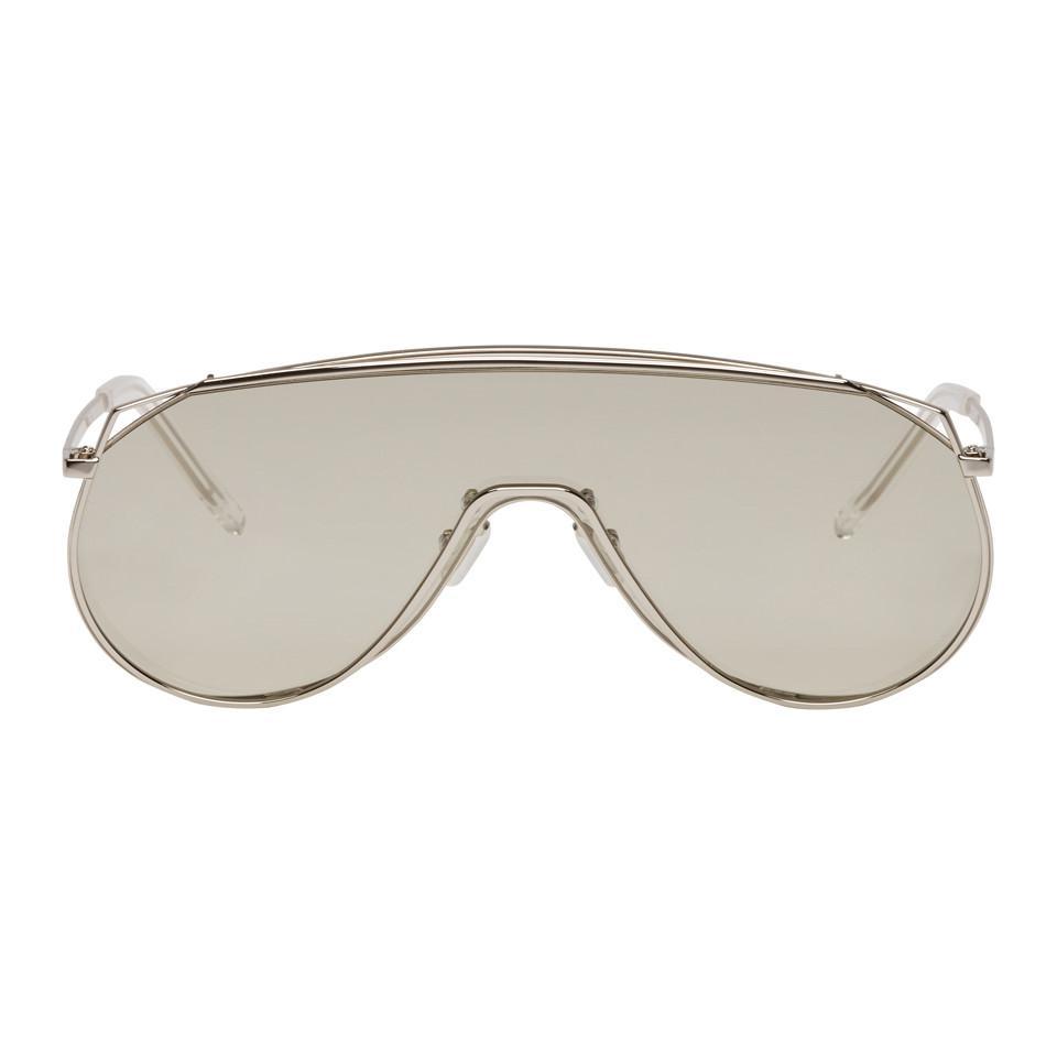 add16a94723d Gentle Monster Silver Afix Shield Sunglasses in Gray - Lyst