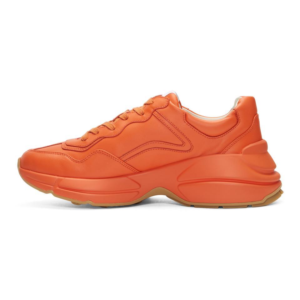 Gucci Leather Orange Logo Rhyton