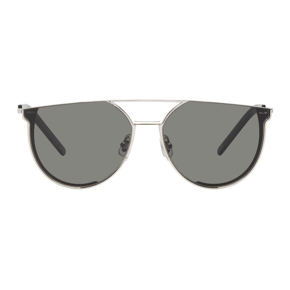 250140528811 Gentle Monster Silver And Grey K-1 Sunglasses in Metallic for Men - Lyst