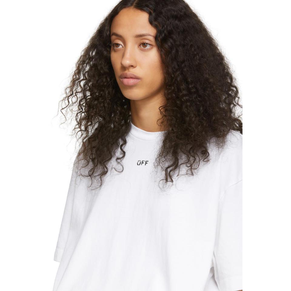 Ssense Exclusive White Diag Spray Paint T Shirt