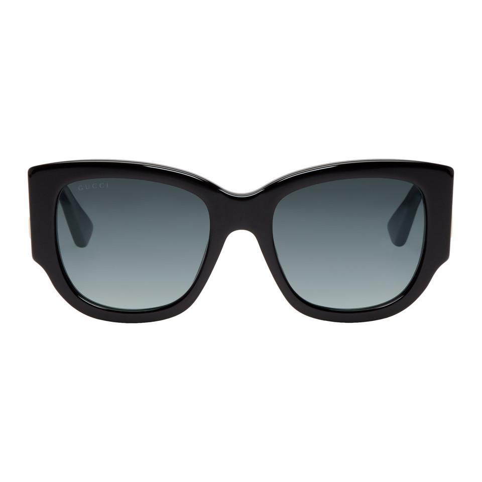 b8c5e041cfd Lyst - Gucci Black Sylvie Sunglasses in Black