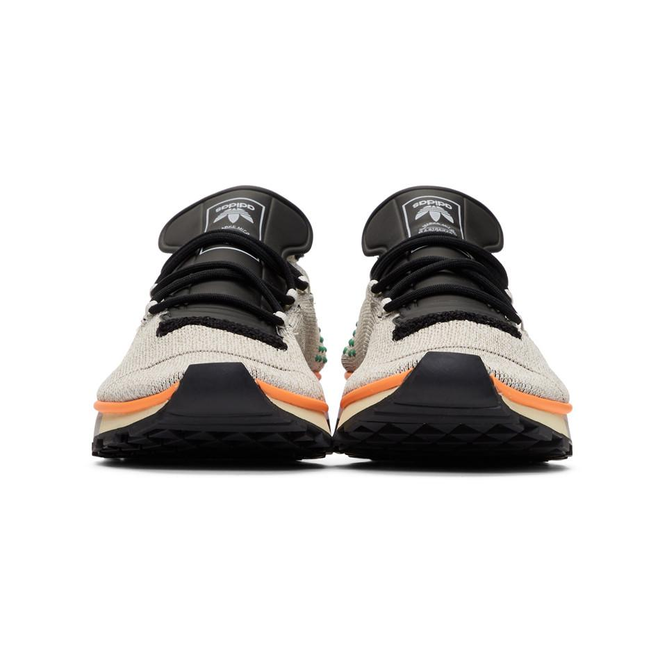 Alexander Wang Leather Grey Aw Run Mid Sneakers in Grey