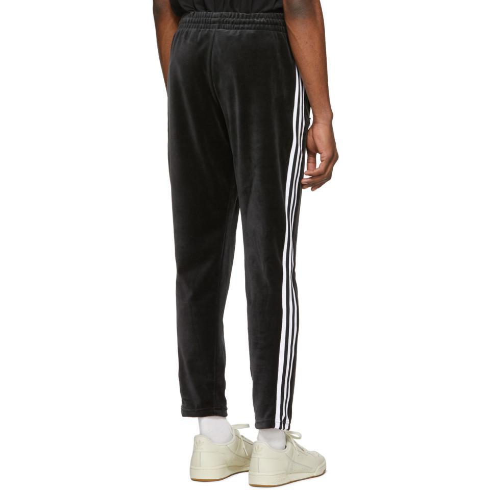 6a9986f0 Adidas Originals Black Velour Cozy Lounge Pants for men
