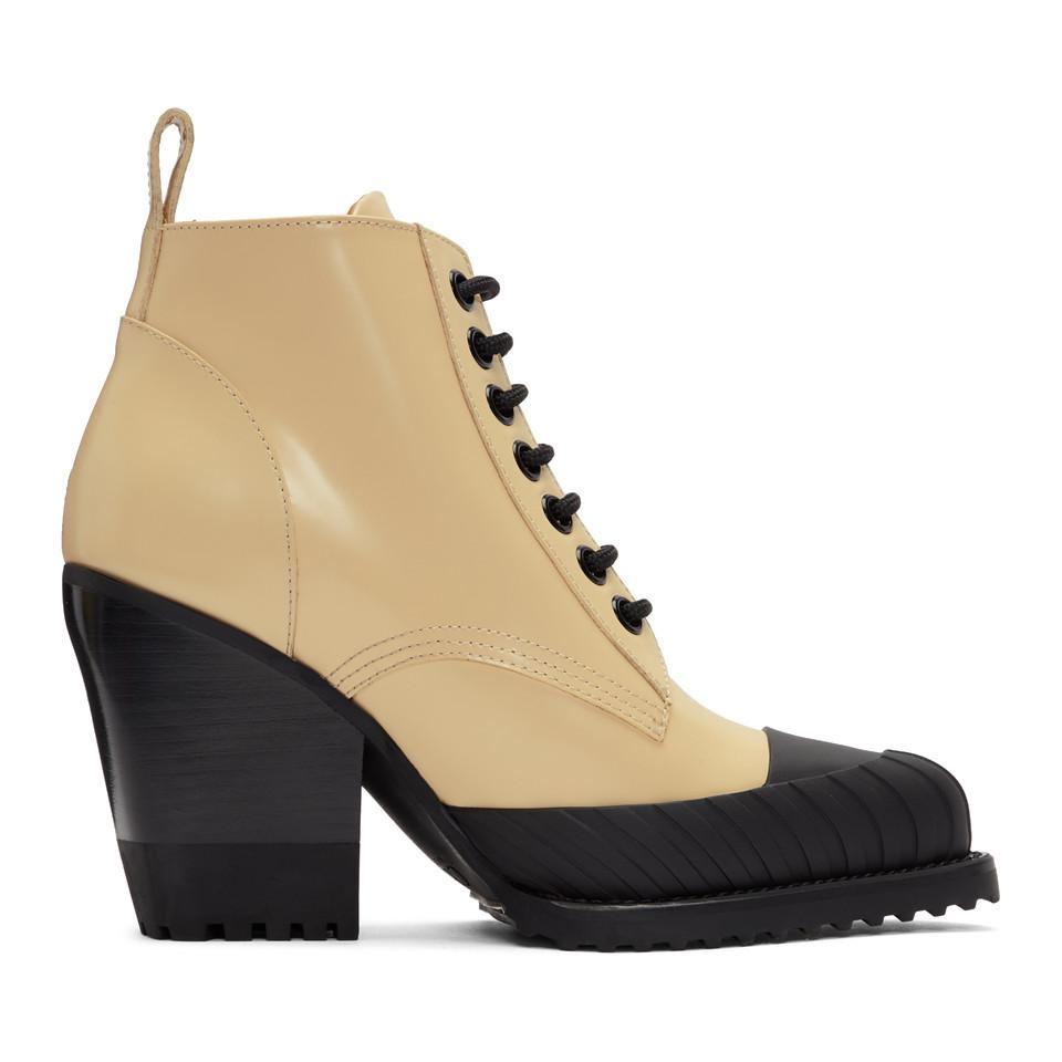 45b2087589b Chloé Yellow Rylee Hiking Boots