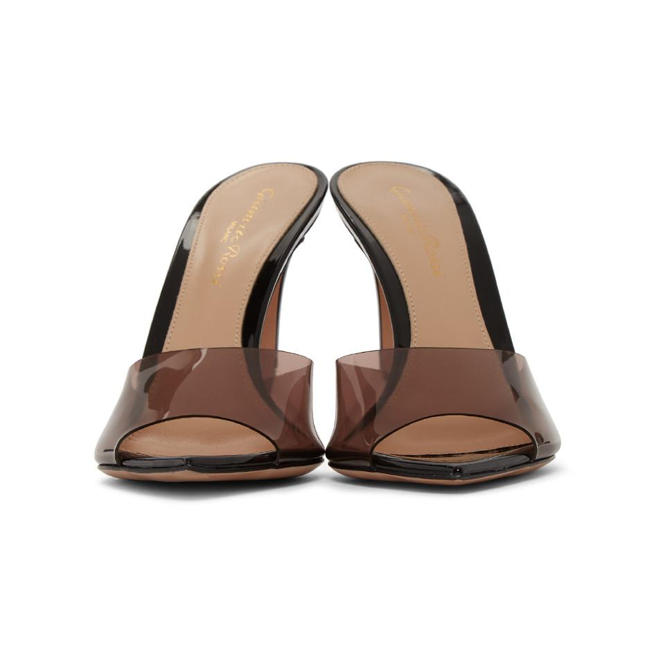 0d4c4321a70 Gianvito Rossi - Multicolor Black And Pink Patent Elle Sandals - Lyst. View  fullscreen