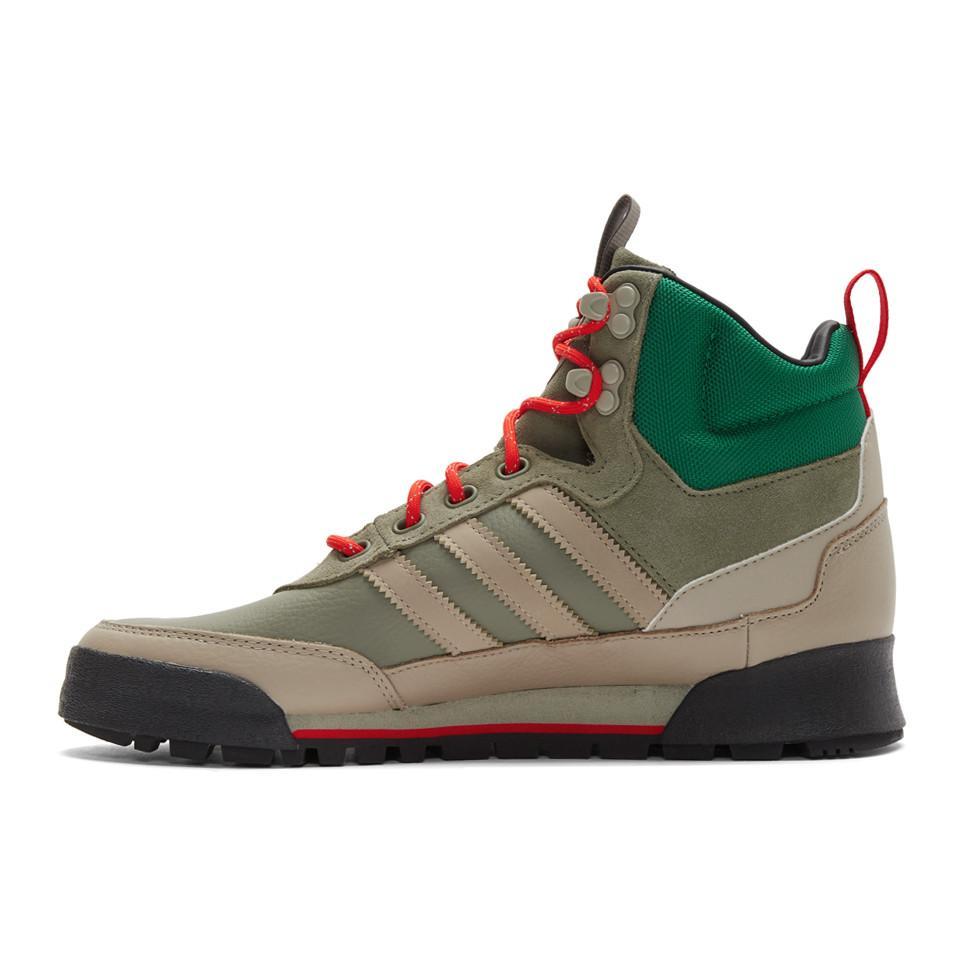 adidas Originals Leather Khaki Baara Boot Sneakers for Men - Lyst