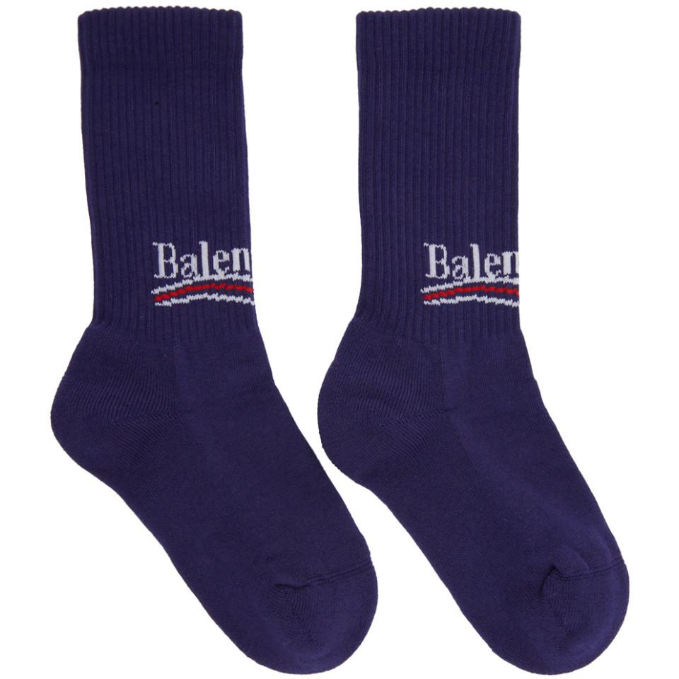Clearance Manchester Cheap Price Wholesale Price Blue Campaign Logo Socks Balenciaga Free Shipping Visit New Top Quality Authentic trAmCQf