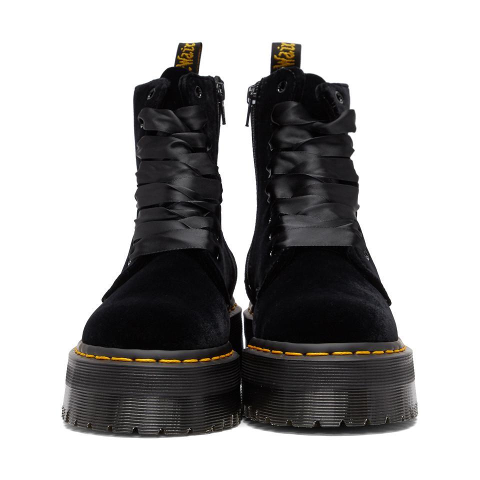 cheaper many styles sold worldwide Black Velvet Jadon Platform Boots