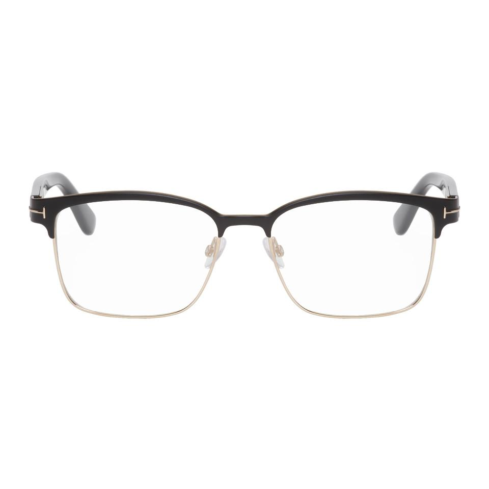 26bd90f7c6d Tom Ford Black And Gold Tf-5323 Glasses for Men - Lyst