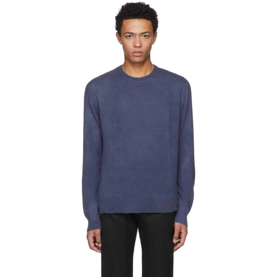 Navy Cashmere Billy Classic Crewneck Sweater Clearance Hot Sale Low Price Sale Natural And Freely 0RNWpL