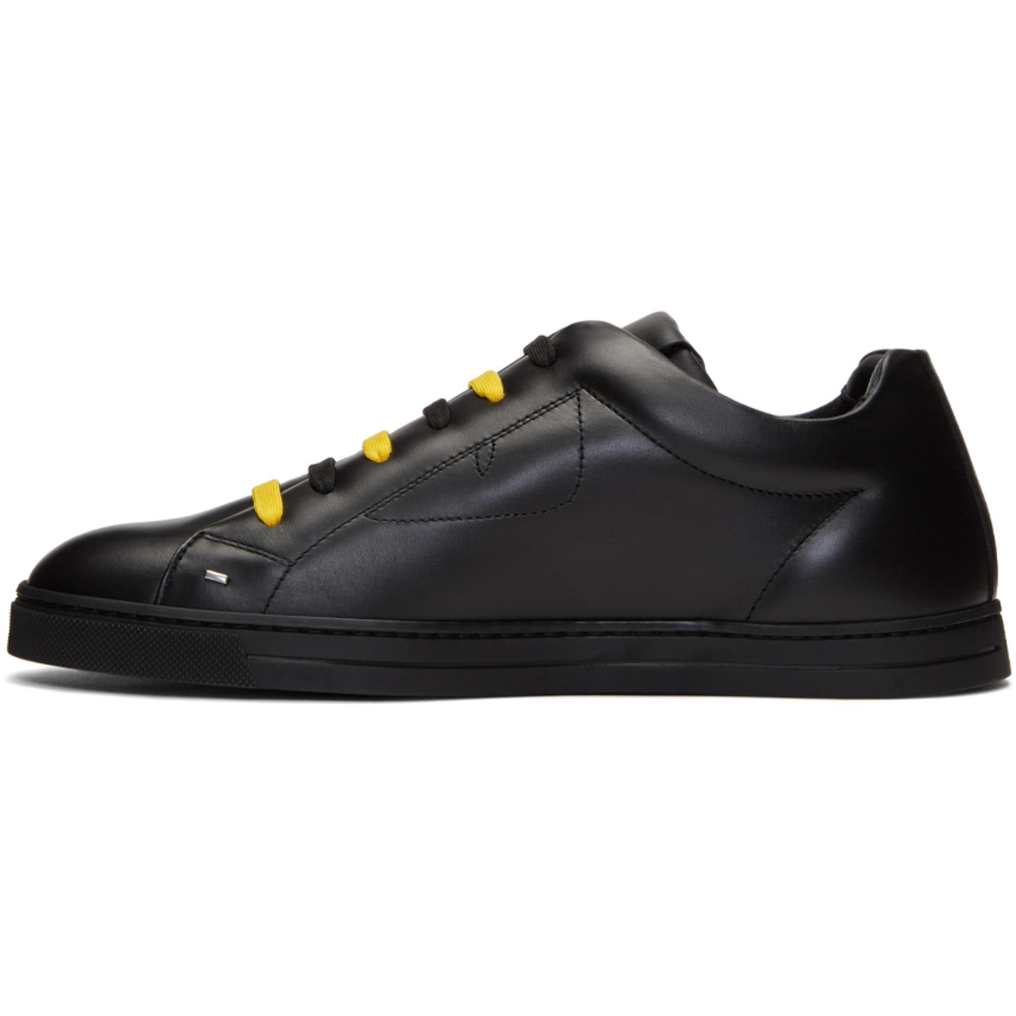 1b431d5cf7 Lyst - Fendi Black   Yellow  bag Bugs  Sneakers in Black for Men